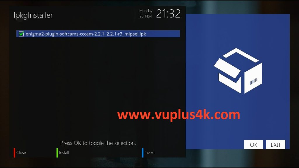 TUTORIAL] How to install CCCAM on OpenATV – VUPLUS4K