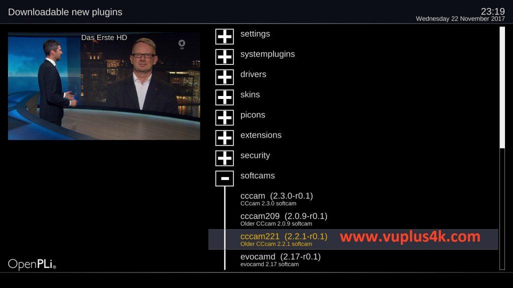 TUTORIAL] How to install CCCAM on OpenPLi – VUPLUS4K