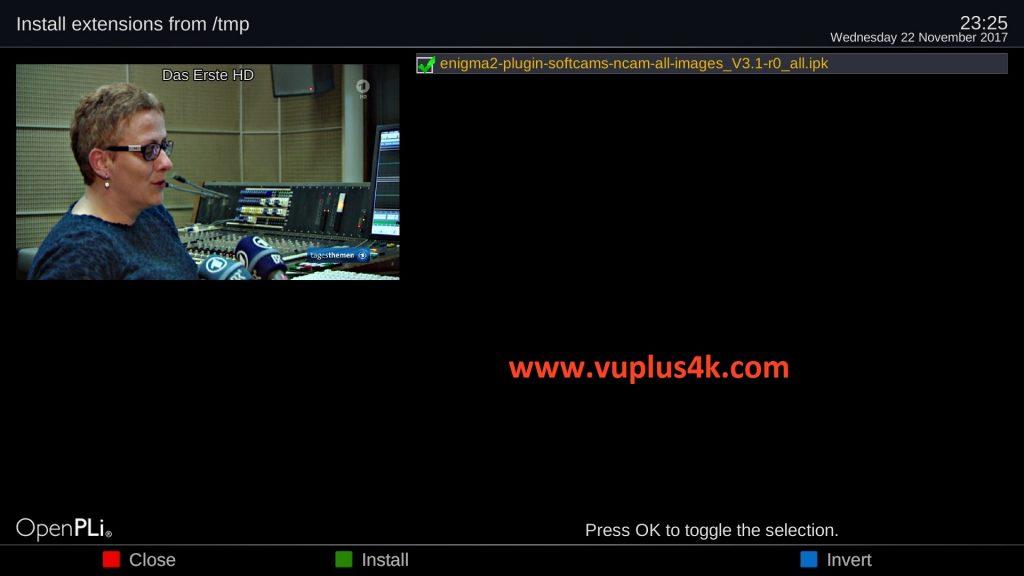 TUTORIAL] How to install Ncam on OpenPLi – VUPLUS4K
