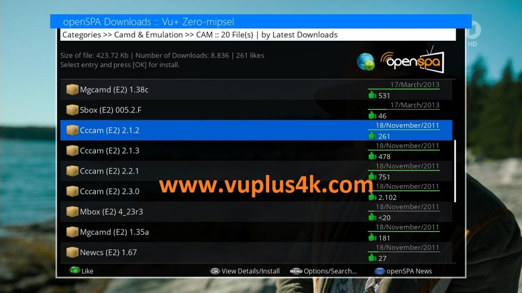TUTORIAL] How to install CCCAM on OpenSPA – VUPLUS4K