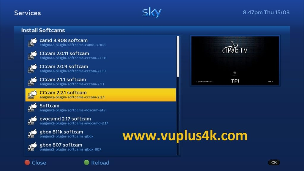 TUTORIAL] How to install CCCAM on iPab TV – VUPLUS4K